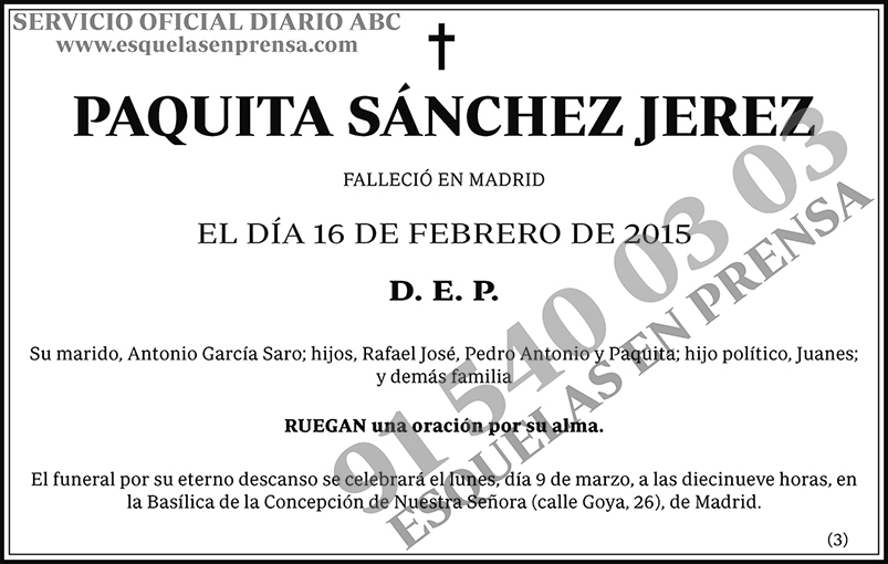 Paquita Sánchez Jerez